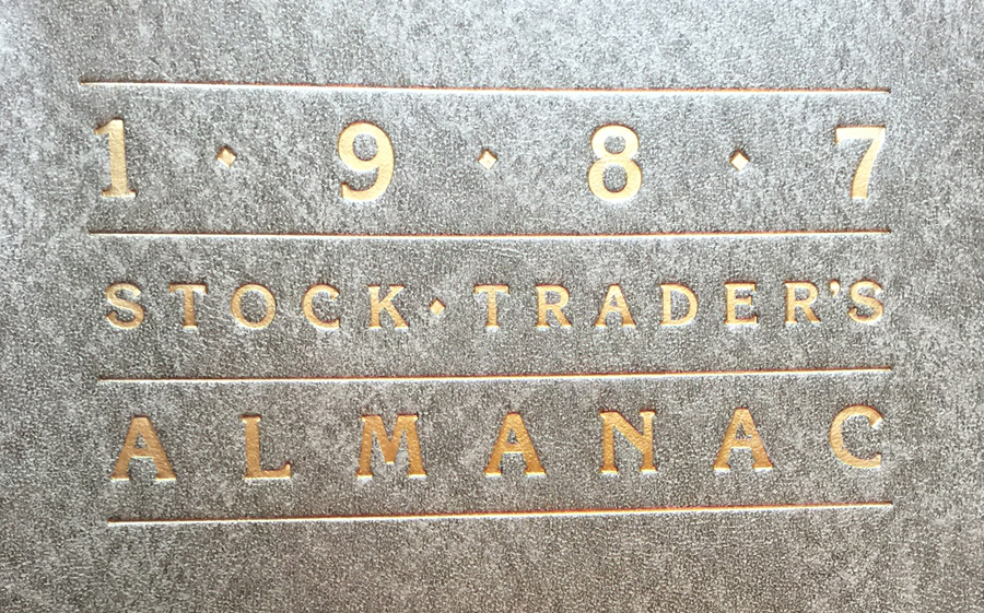 1987 Stock Trader's Almanac Cover, cropped
