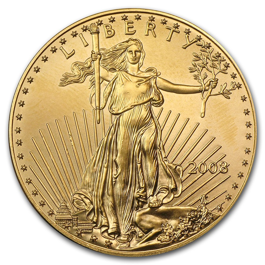 Gold American Eagle - Front